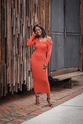 Iféoluwa Anani - Ohpolly Orange Rib Dress - Walk That Walk