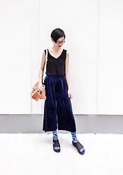 Ren Rong - Mango Top, Pomelo Pants, Topman Dog Socks, Melissa Sandals, Rawrow Bag - Year of the Dog