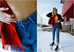 Sofija Surdilovic - Shein Rolled Up Blue Jeans, H&M Black Ankle Boots, Zaful Https://Www.Zaful.Com/High Low Mohair Sweater P 444277.Html?Lkid=12705035 - Blue jeans and mustard kind of girl.