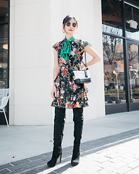 Elizabeth Lee (Stylewich) - Chanel Gabrielle Bag, Alice + Olivia Lessie Dress - Spring Blooming