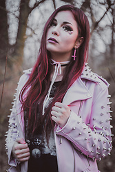 Isabell Mertens - Killstar Dahlia Studded Biker Jacket, Dimmu Borgir Shirt - Don't kill my Vibe