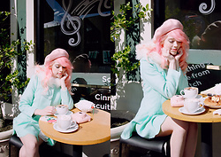 Kailey Flyte - Sincerely Sweet Boutique Mint Coat, Betsey Johnson Ice Cream Clutch - Cappuccino