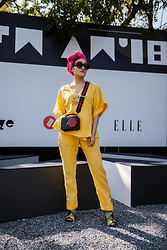 Aien Jamir - Charles & Keith Cross Body Bag, Zara Tropical Print, Gucci Rounded Sunnies - Bringing the Sunshine