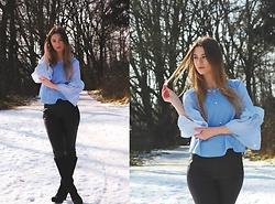 Jenny - Zaful Blouse, Fashionmia Necklace, Primark Pants, Deichmann Shoes - WINTER