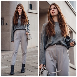 Jacky - Vila Pullover, Vila Pants, Zara Shoes, 3.1 Phillip Lim Bag - How to wear tone on tone.
