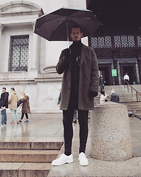 Sven B - Dr. Martens Shoes, Cheap Monday Jeans, Asos Coat - Umbrellator