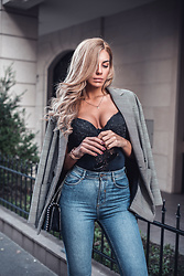 Dragana Savic - Zara Blazer, Zara Jeans, H&M Bodysuit - Lovely plaid