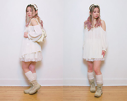Lovely Blasphemy - Sweet Mildred Beige Headband, Liz Lisa Beige Bag, Liz Lisa Doll Cream Lace Miniskirt - The scariest monsters are the ones that lurk within our soul