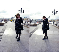 Yana Bezdushna - Zaful Black Coat, Rosegal Bag, Call It Spring Boots - Fashion Week Russia