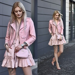 Katarzyna KOKA Konderak - Dress, Bag - Think pink