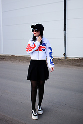 Panda . - H&M Cap, H&M Top, American Apparel Skirt, Karl Lagerfeld Shoes - PEPSI QUEEN