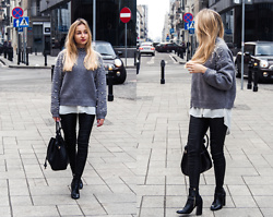 Dalena Daily - Sweater, Shirt, Pants, Boots, Bag - PEARLS