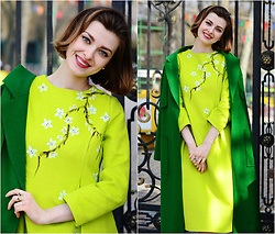 Malinina-ek - - Metisu Dress - Green