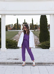 Claudia Villanueva - Lefties Sunglasses, Zara Jacket, Zara T Shirt, Zara Pants, Forever 21 Shoes - Violet Spring