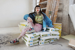 †Norelle Rheingold† - Diy Gg Earrings, Gucci Jacket, Vintage Mom Jeans, Balenciaga Triple S Sneaker - The road to success is always under construction.