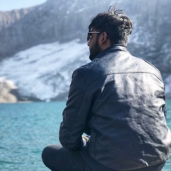 Zain Sidhu - Ray Ban Glasses, Diesel Jacket - Ratigali lake