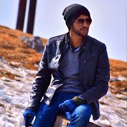 Zain Sidhu - Diesel Jacket, Carrera Glasses - Mushpuri top