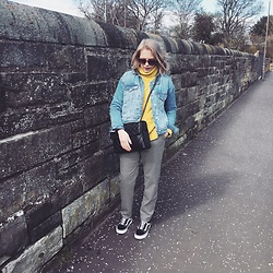 Gem.Lou _ - Vans Trainers, Pull & Bear Trousers, Topshop Jacket, Kurt Geiger Bag, Asos Jumper - Easter strolling
