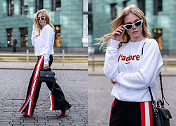 Sunnyinga - Asos Sunglasses, Wrstbhvr Sweater, Stradivarius Pants, Karl Lagerfeld Bag, Aldo High Heels - Sporty Streetstyle Look