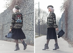 Maria R -  - Military and Feminine Notes in One Look