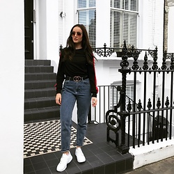 Savina Official - Top, Zara Jeans, Asos Belt, Ego Sneakers, Forever 21 Sunglasses - 90's Child