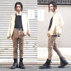 @KiD - Uniqlo Cheap Shirts, Beams Yokosuka Jacket, Cheap Monday Leopard Skinny, Dr. Martens Combat Boots - JapaneseTrash348