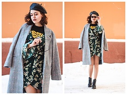 Katerina Lozovaya - Shein Dress, Romwe Shirt, Zaful Coat, Rosegal Glasses - Psycho