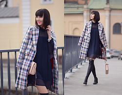Daisyline . - Reserved Coat, Zara Dress, Loft37 Shoes, Dkny Bag - Casual / www.daisyline.pl