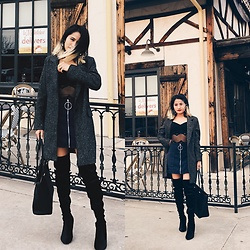 Nabina Magar - So Aesthetic High Waisted Skirt, Rue21 Knee High Boots, Coach Tote Bag - Business chic