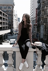 K-laa White - Brandy Melville Usa Santana Top, Madewell Black Overalls, Target Cadori Lace Up Sneaker - Lost in a beautiful city