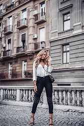 Dragana Savic - Na Kd Jeans, H&M Sandals, H&M Shirt - April in Belgrade