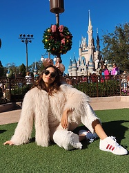 Michele Wéllida - Zara Coat, Adidas Sneakers, Animale Tweed Pants - Disney Magic Kingdom