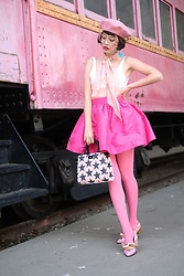Amy Roiland - Pauls Boutique, Juliet Robot Shoes - Pink Train Ride
