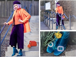 Maria R -  - Orange and Purple