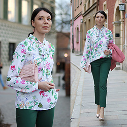 Minimalissmo .. - Mohito Blouse, H&M Pants, Dkny Bag - Flowered Mohito blouse