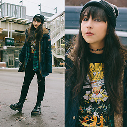 Camila C - Urban Outfitters Band Tee, Dr. Martens Jadon - Basket Case