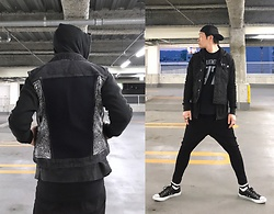 ★masaki★ - Self Remake Denim, Joe Strummer 77, Asos Dropcrotch, Converse Lo, Vans Cap - Allblack everything