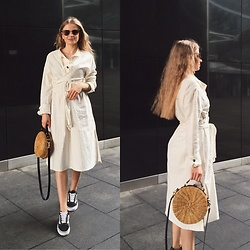 Aneta Kramarska - Zara Dress, Mango Bag, Mango Glasses, Vans Shoes - Vans vs Heels. My sporty elegance.
