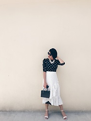 Cassey Cakes - H&M Dress, H&M Skirt, Mango Bag - Big Dots, Small Dots