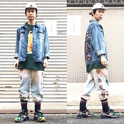 @KiD - Rvca Marble Cap, Insight Denim Jacket, Sonic Youth Dirty, Taima Do Phychederic Sweat Pants, Adidas Raf Simons - JapaneseTrash361
