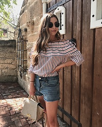 Fashion Sensored -  - Off the Shoulder Top