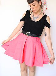♡Nelly Kitty♡ - Cos Pink Skirt - OOTD#28