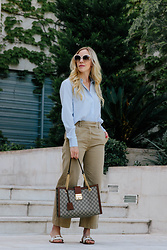 Meagan Brandon - Blouse (Under $25!), Similar Pants, Gucci Bag, Gucci Sandals - The Best Blouse Under $25