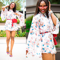 Monica Awe-Etuk -  - ROCKING ROMPER – HOW TO STYLE A FLORAL ROMPER