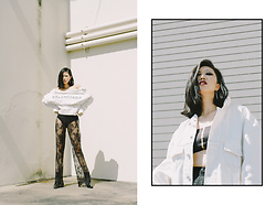 Anni Peng - Balenciga, Missguided - Demin x Lace