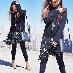 Melanie P. -  - Layering Sweaters Over Floral Print