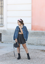 Claudia Villanueva - Sfera Headband, Gamiss Jacket, Shein Matching Set, Zaful Bag, Sammydress Boots - Polka Dot Set