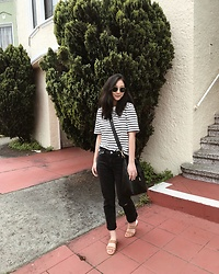 Tiffany Wang - Cos Shirt, Agolde Jeans, Mango Sandals, Mon Purse Bucket Bag, Ray Ban Sunglasses - TGIF