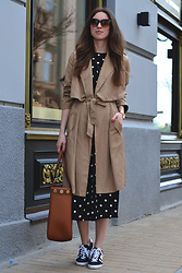 Olga Dupakova - Zara Coat, H&M Dress, Zara Bag, Mango Keds - Spring mood