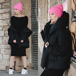 Lavie Deboite - H&M Beanie, H&M Bodycon Dress, H&M Jacket, Puma Sneaker - Bodycon Dress